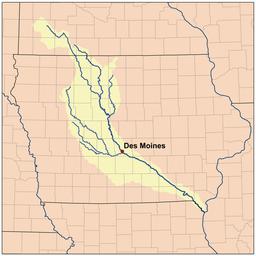 Des Moines River Wikipedia - Iowa river map