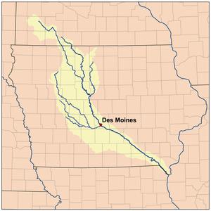 Des Moines River - Image: Desmoinesrivermap