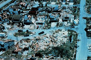 Pinecrest, Florida - Damage from Hurricane Andrew in 1992 in the area