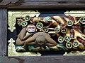 Detail of Monkey Frieze - Sacred Stable (Shinkyu) - Toshogu Shrine - Nikko - Japan - 01 (48042247443).jpg