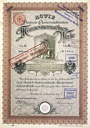 Mannesmann - Image: Deutsch Oesterreichische Mannesmannröhren Werke 1890 Reinhard