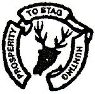 Devon and Somerset Staghounds - Prosperity to Staghunting, badge of the Devon and Somerset Staghounds