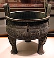 Dinastia zhou occidentale, tripode per il cibo (ding), 900-820 ac ca.jpg