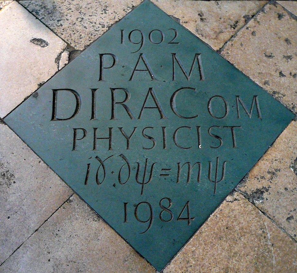 Dirac's commemorative marker