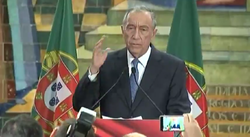President Elect Marcelo De Sousa Delivers His Victory Speech On Election Night
