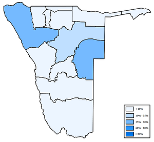 Distribution of Otjiherero in Namibia.png