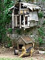 Dog with Pigeon Coop - Libohova - Albania (42407520682).jpg