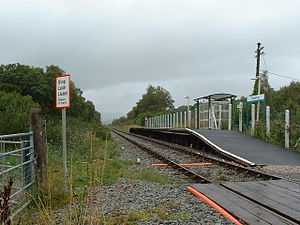 Dolgarrog - Dolgarrog Halt, on the Conwy Valley line, located across the river