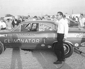 Wide World of Sports (U.S. TV series) - Drag racer Don Nicholson during a Wide World of Sports interview in 1966.