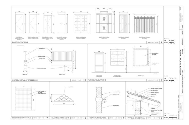 File:Door Elevations, Window Details, Corbel Detail, and Ceramic Tile Detail - Westside School, Annex, Corner of Washington Avenue and D Street, Las Vegas, Clark County, NV HABS NV-65-A (sheet 9 of 9).png