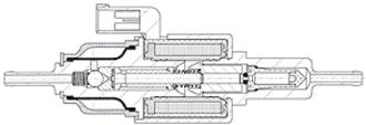 Fuel pump - A piston metering pump f.e. gasoline- or additive metering pump