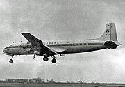 Douglas DC-6B OO-CTI Sabena Ringway 13.11.55 edited-1