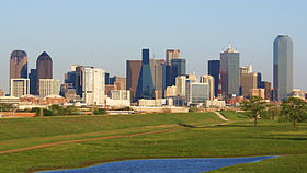 Downtown Dallas, Texas in March 2009