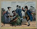 Dressed as a beadle Joseph Hume kicks over a basket Wellcome V0050213.jpg