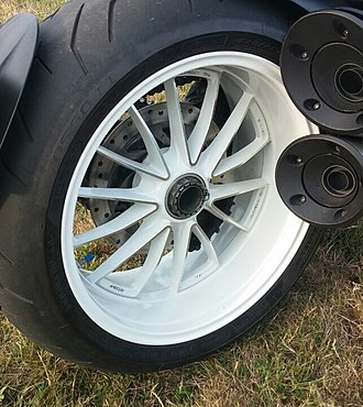 Motorcycle wheel - Rear wheel of a Ducati Diavel