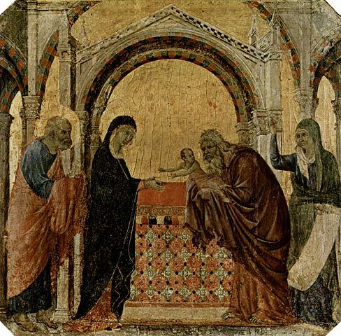 «Сретение» (Дуччо, «Маэста», фрагмент, 1308—1311)
