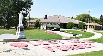 Dugald, Manitoba - The war memorial and public library in Dugald.