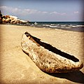 Dugout canoe on the shores of Lake Malawi.jpg
