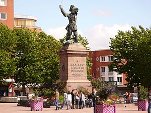 Dunkirk - Statue of Jean Bart in Dunkirk, the most famous corsair of the city.