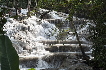 The picturesque Dunn's River Falls in Ocho Rios Dunns River Falls Photo D Ramey Logan.jpg
