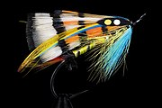 Durham Ranger, a classic design of salmon fly used in the sport of fly fishing.