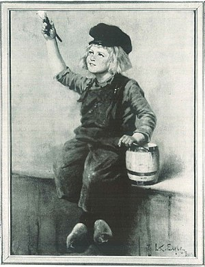 Dutch Boy Paint - Original painting done for the National Lead Company and used as the logo