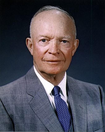 Dwight Eisenhower, 34th President of the United States (1953-1961) Dwight D. Eisenhower, official photo portrait, May 29, 1959.jpg