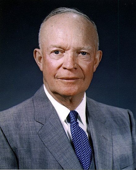 President Dwight D. Eisenhower, who authorized the Central Intelligence Agency to plan the Bay of Pigs Invasion Dwight D. Eisenhower, official photo portrait, May 29, 1959.jpg