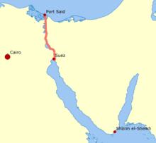 suezkanalen kart Suezkanalen – Wikipedia suezkanalen kart