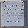 E. Othon-Friesz plaque - 73 rue de Notre-Dame des Champs, Paris 6.jpg