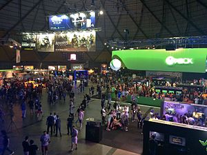 EB Games Expo 2015 - A view of the show floor at The Dome (Sydney Showground Hall 1), during the Expo.