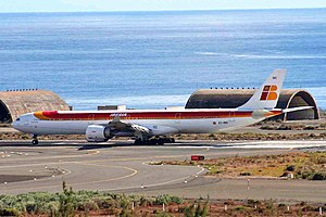 Gran Canaria Airport - Iberia Airbus A340-642 at the airport