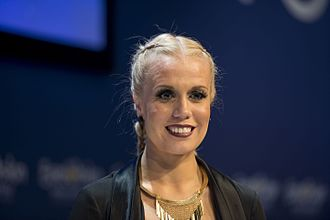 Iceland in the Eurovision Song Contest 2016 - Greta Salóme during a press meet and greet