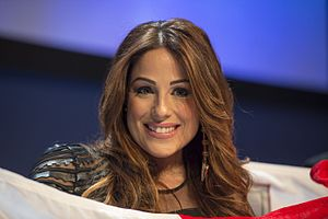 Malta in the Eurovision Song Contest 2016 - Ira Losco during a press meet and greet