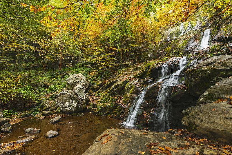 File:Early Fall at Dark Hollow Falls (22028259442).jpg