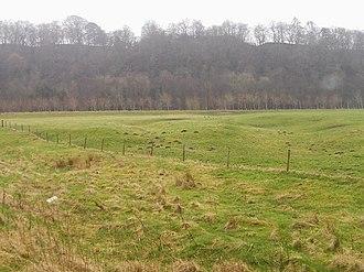 Liddel Water - Liddel Strength. Site of a Norman motte and bailey castle