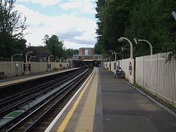 Eastcote station look west