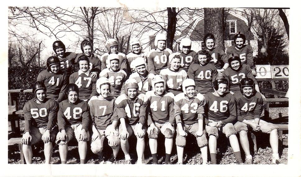 Eastern State Women's Football Team - October 20, 1945