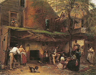 Eastman Johnson - Negro Life at the South, oil on canvas, 1859, 36 × 45 in.