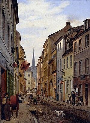 Eduard Gaertner - Parochialstraße (1831)