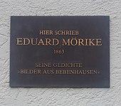 Mörike in Bebenhausen (1863) (Quelle: Wikimedia)