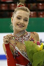 Elena Radionova at the Junior World Championships 2014 - Awarding ceremony.jpg
