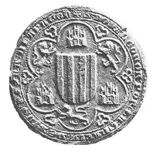Eleanor of Castile (1307–1359) - Seal of Queen Eleanor, ca. 1330.