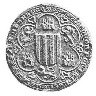 Eleanor of Castile (1307–1359) - Seal of Queen Eleanor, ca. 1330.