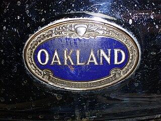 Oakland Motor Car Company Michigan carmaker and division of General Motors, active 1908-1931