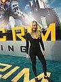 Emily Carmichael on the carpet of Pacific Rim Uprising.jpg