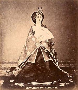 Empress Shōken - Empress Consort Haruko in 1872.