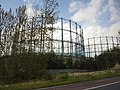 Empty gas holders by the A8, Germiston (geograph 2628561).jpg
