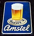 Enamel advertising sign, Amstel.JPG
