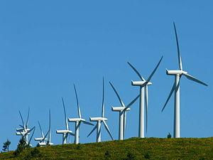 Energy in Spain - Image: Enerxía eólica O Pindo Galicia